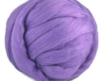 Superfine Merino wool roving,Color: Violet