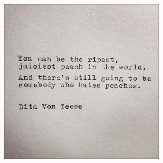 Dita Von Teese Quotes Dita Von Teese Quote Typed on
