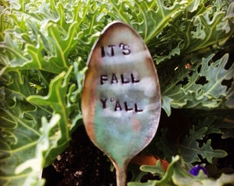 Its's Fall Y'all-Vintage Silverware Garden Marker
