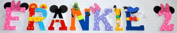 "Disney Letter Art 6"" - Disney Characters"
