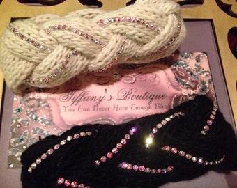 Swarovski Crystal  Crochet HeadWrap