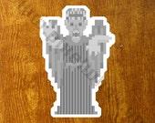 Pixel (8 bit) Doctor Who Weeping Angel Sticker