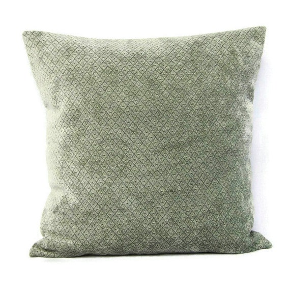Throw Pillow Covers 18x18 : 18x18 Throw Pillow Cover Seafoam Mint Sage by GigglesOfDelight