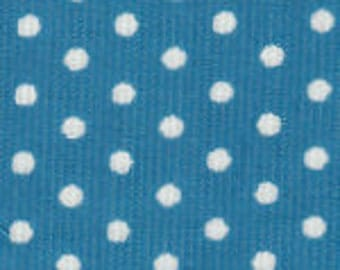 Turquoise Dot Corduroy Fabric Finders Cotton Fabric