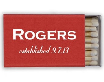 75 Custom Wedding Matches - Only 1.20 each