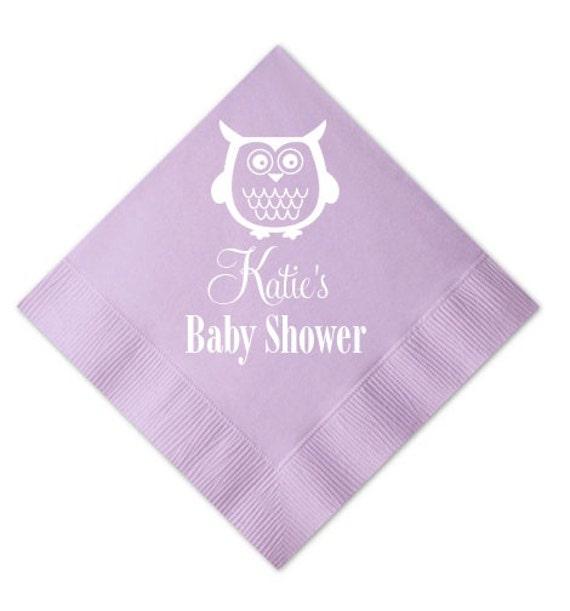 Custom Baby Shower Napkins By Graciousbridal On Etsy
