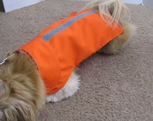 SALE - Medium Lightweight Reflective Bright Orange Dog Jacket with Collar