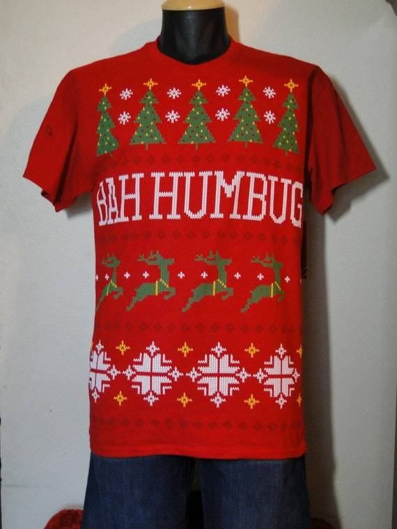 Ugly Christmas Sweater TShirt Tacky Gaudy by ABetterSweaterShop
