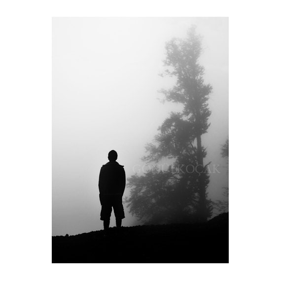 Items similar to Fog photography, Black and White ...