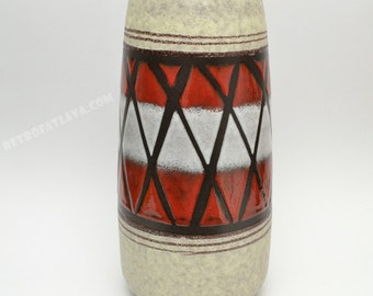 Large West German pottery vase by Scheurich 203-32
