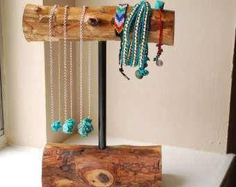 Small Wooden Bracelet Holder- Rustic Jewelry Stand