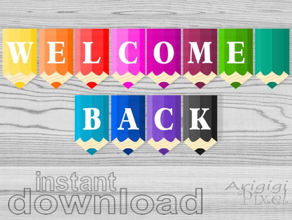 Sweet image with regard to welcome back sign printable