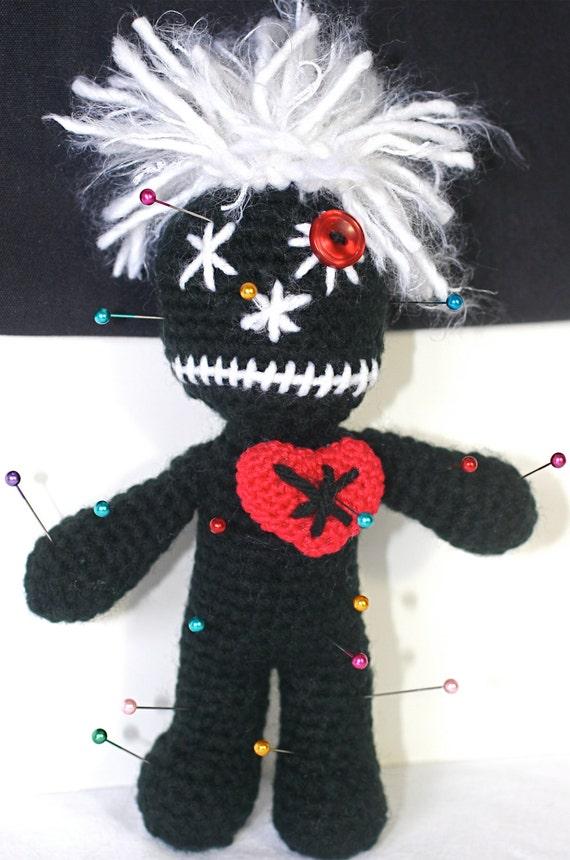 Black VooDoo Doll Pin Cushion by CascadiaCrochet on Etsy