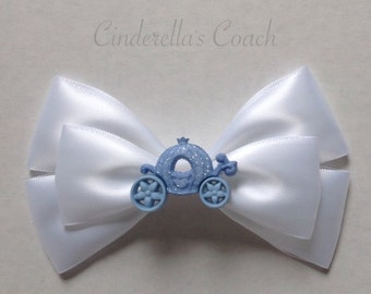 cinderella's coach hair bow