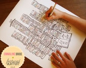 """Personalized Wedding Guest Book Alternative 