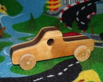 Handmade, 2-tone  pickup truck (walnut)
