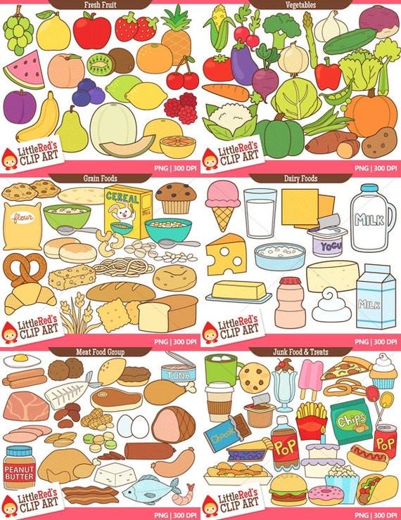 Dairy Food Group Clip Art Food Clip Art Bundle