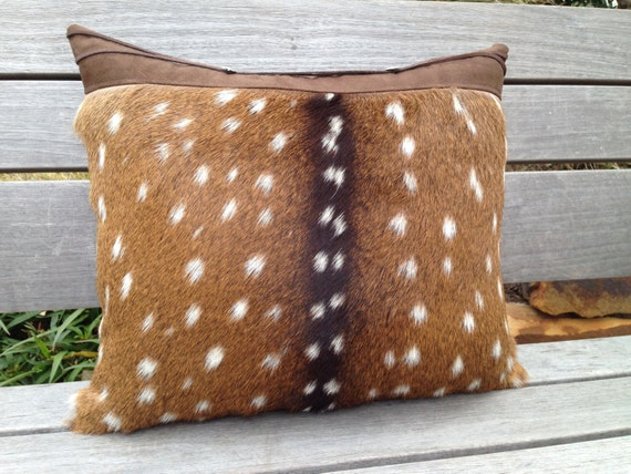 Faux Deerskin Pillow : Axis deer hide pillow