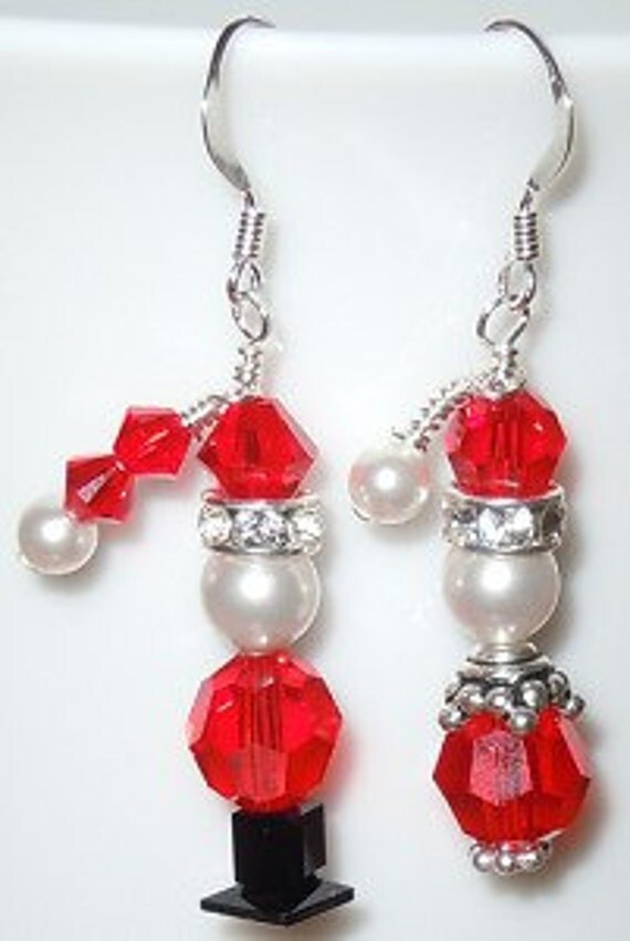 Santa & Mrs. Claus Christmas Earrings Set Made by ...