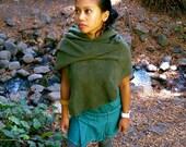 Oakland - Women's Poncho/Shrug : asymmetric hooded soft fleece - by Haikooz