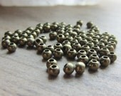 Metal Spacer Bead Round 3mm Antique Brass QTY 110