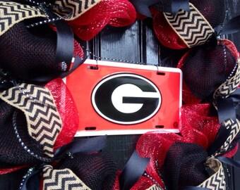 UGA Dawgs Wreath - College Wreath, Football, Georgia