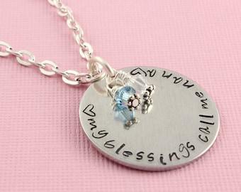 Nana Necklace - Silver Necklace - Birthstone Necklace - Personalized Necklace - Christmas Gift For Nana - Grandma Necklace - Nana Gift
