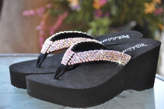 Swarovski Crystal Rhinestone Flip Flop Sandals For By