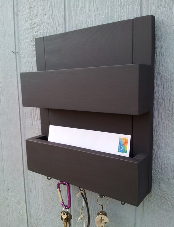 2 Pocket Mail And Key Rack Mail Organizer Mail Holder