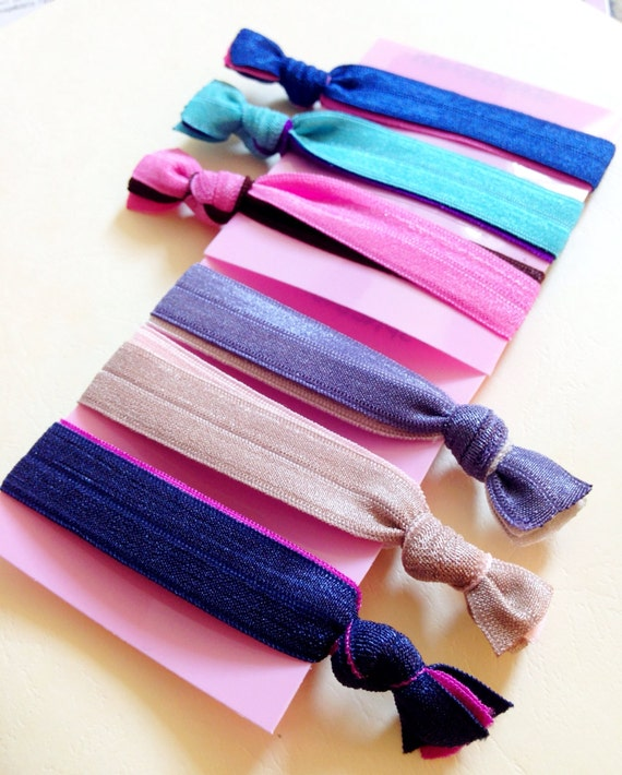 Items Similar To Double Fold Over Elastic Hair Ties