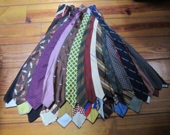 Vtg. 1960'S Hippie/Steampunk Tie Skirt W Side Zipper