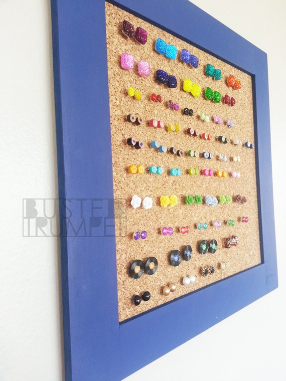 how to store stud earrings items similar to periwinkle blue earring storage custom 7861