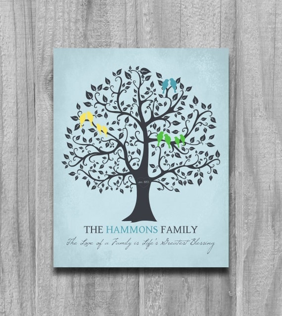 Family Tree Print Personalized Grandparents Gift Parents