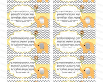 Bring a book insert card baby shower bring a book instead of a card elephant baby shower invitation insert baby shower (87at) yellow