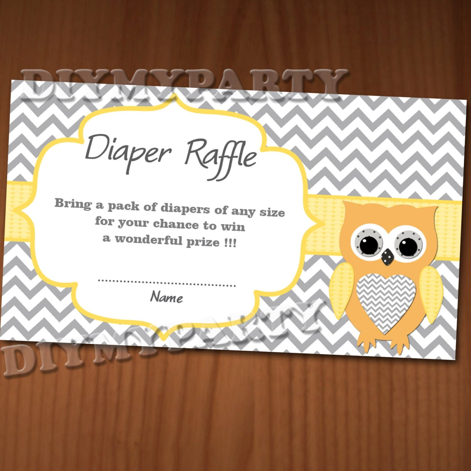 owl baby shower diaper raffle ticket diaper raffle cards