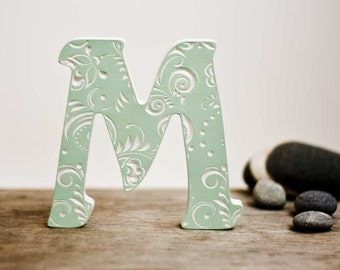 Letters M, letter art, wooden letters for nursery, art, baby letter,wedding letter,letter gifts, fancy letter,wooden letters,Valentine's Day