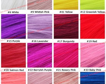 """RESERVED - 22"""" Clip On In Colorful Straight Hair Extension Party Solid"""