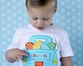 Custom Boys Easter Eggs Retro Truck T-Shirt - Personalized - Applique Shirt - Embroidered Kids Shirt