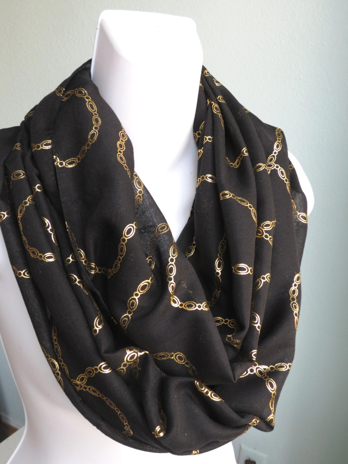 store closing sale black gold infinity scarf scarf