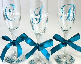 1 Personalized Champagne Flute