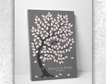 Wedding Guest Book Alternative Guestbook - Classic Oak Tree - 55-250 Guests - 16x20, 20x30 or 24x36 - Canvas Promo