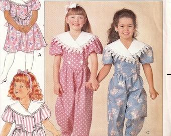 Butterick Girls Pattern 5472 Dress Or Jumper
