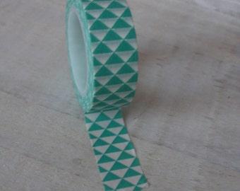 Washi Tape - Geometric Design Duck Egg Green