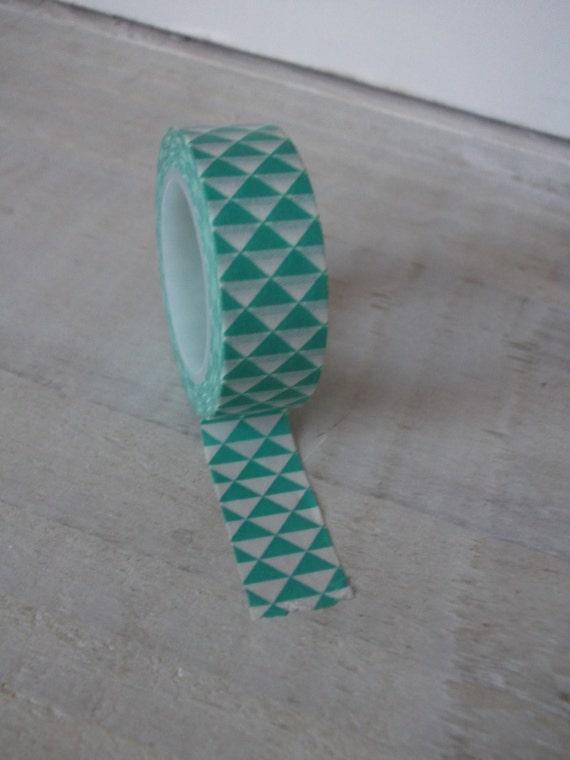 Items similar to washi tape geometric design duck egg for Geometric washi tape designs