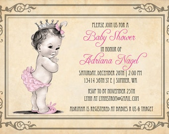 Popular items for princess baby shower on Etsy