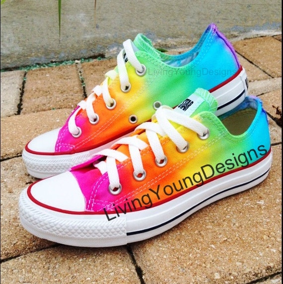 items similar to tie dye converse rainbow custom tie dye converse on etsy