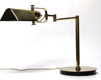 Mid century desk table l& Nessen brass swing arm pivot light retro lighting  sc 1 st  Etsy & Nessen lighting | Etsy azcodes.com