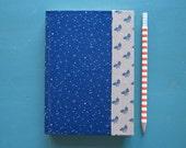 SALE Unique Hand Bound Navy Blue Datebook