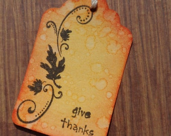 Thanksgiving Tag, Give Thanks, Gift Tag, Treat Tag, Thanksgiving, Holiday Tag
