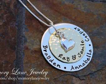 Heart of The Family w/Sterling Silver Heart Charm